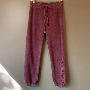 Calvin Klein • Performance wear purple sweatpants